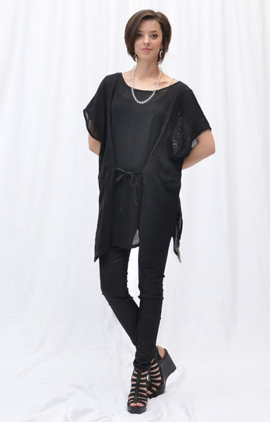 CTC Collection Limited - Linen Mesh Oversized Novelty Pullover-allforher.com