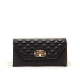 Susu Handbags - Faye - Leather Envelope Clutch with Gold Chain-allforher.com
