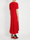 Copy of Sies Marjan - V-neck ruffled silk-charmeuse dress-allforher.com