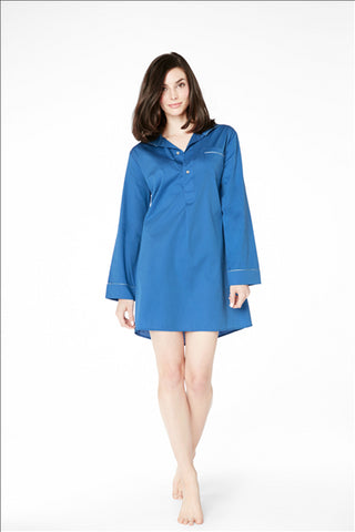 Bed Head - Blue Cotton Nightshirt-allforher.com