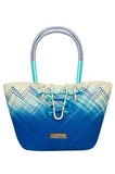 Caffee Swimwear Blue Iraca Bag-allforher.com