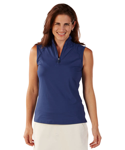 Bobby Jones - Zip Polo Vest-allforher.com