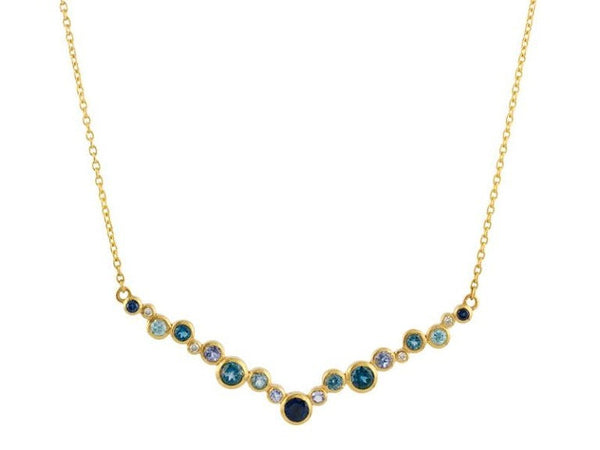 Gurhan - Pointelle V Necklace-allforher.com