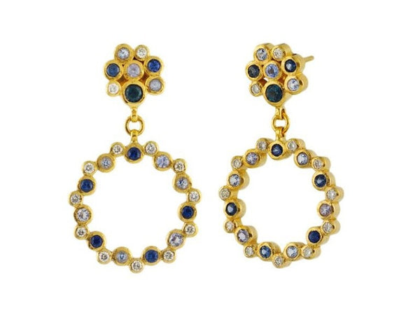Gurhan - Circle Drop Earrings-allforher.com