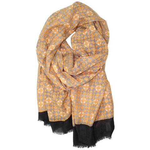 LA FIORENTINA SCARVES -Abstract Print Scarf-allforher.com