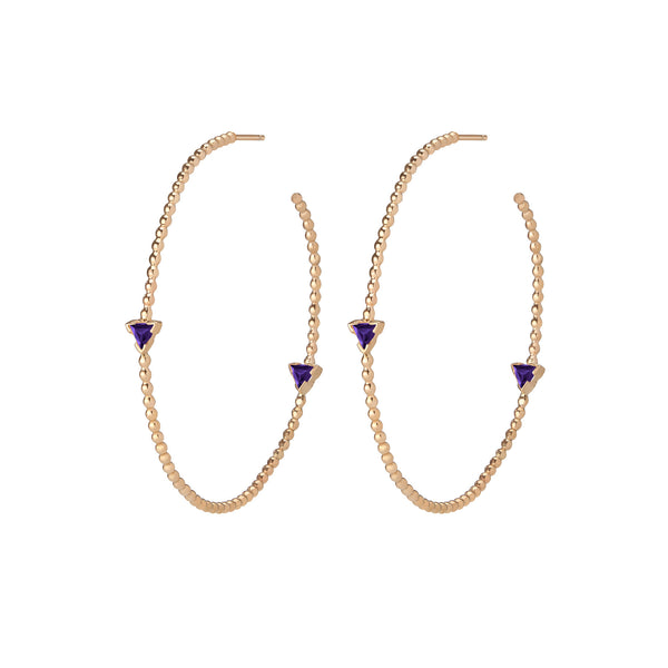 Shahla Karimi - Birthstone Hoop Earrings-allforher.com