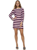 Glamourpuss - Dress Double Stripe-allforher.com