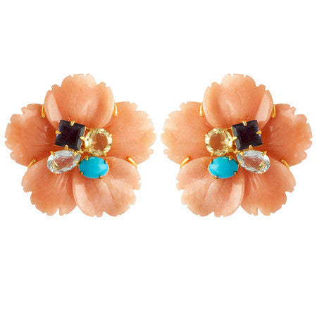 Bounkit - Flower Ear Clips-allforher.com
