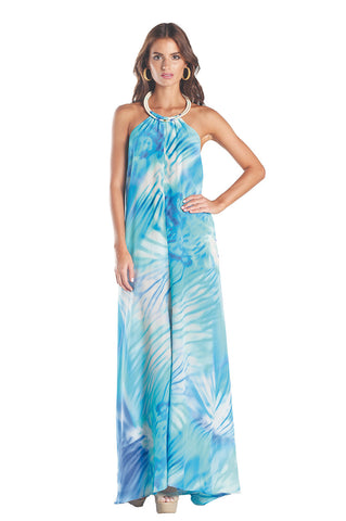 Caffee Swimwear - Long Halter Dress-allforher.com