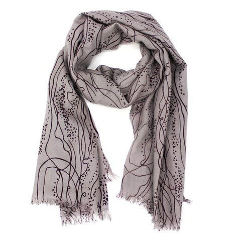 LA FIORENTINA SCARVES - Abstract Print Wool Scarf-allforher.com