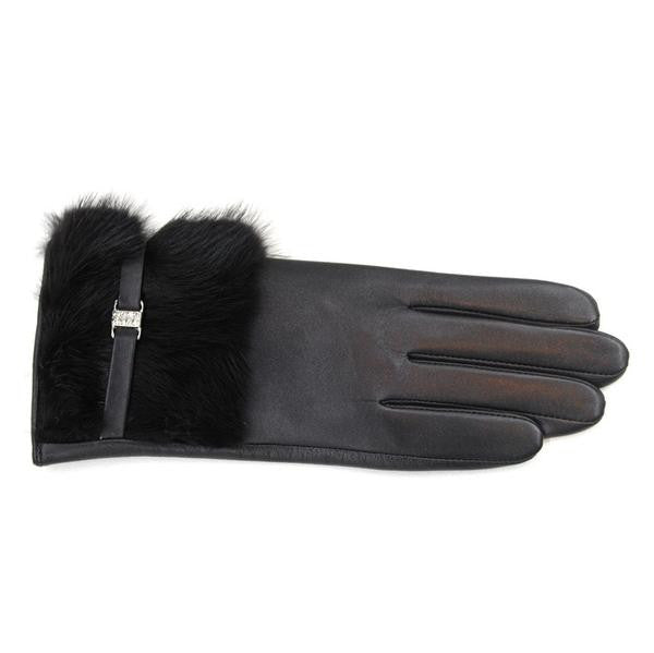 LA FIORENTINA GLOVES - Leather Fur Glove-allforher.com