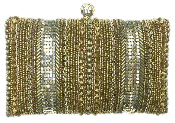 Moyna - Beaded Box Clutch-allforher.com