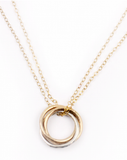 NASHELLE - Three Ring Necklace-allforher.com