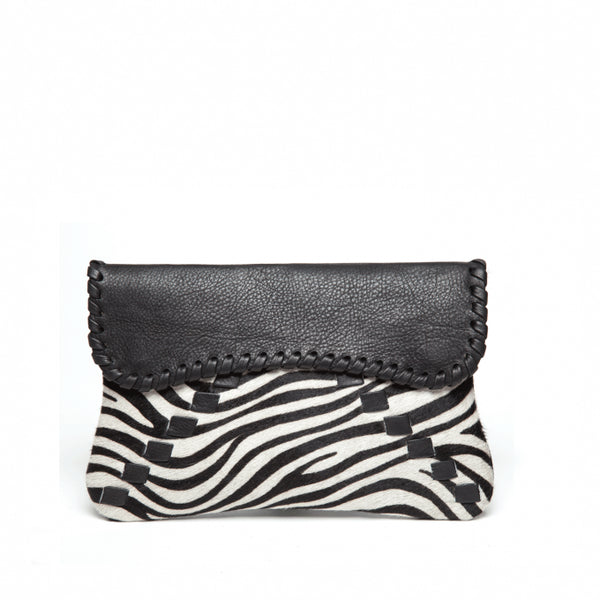 B Low The Belt - Gwen Clutch Zebra-allforher.com