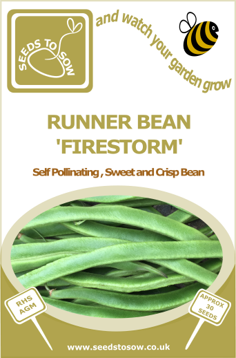 Runner Bean Firestorm - Seeds to Sow Limited