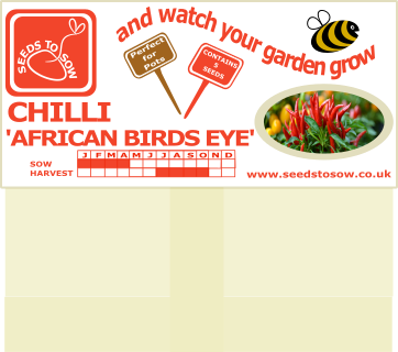 Chilli African Birds Eye - Seeds to Sow Limited