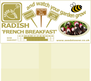 Radish French Breakfast - Seeds to Sow Limited