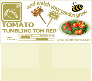 Tomato Tumbling Tom Red - Seeds to Sow Limited