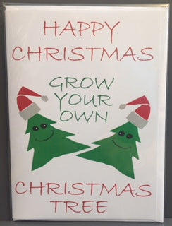 Seed Card - Christmas Card - Grow Your Christmas Tree - Seeds to Sow Limited