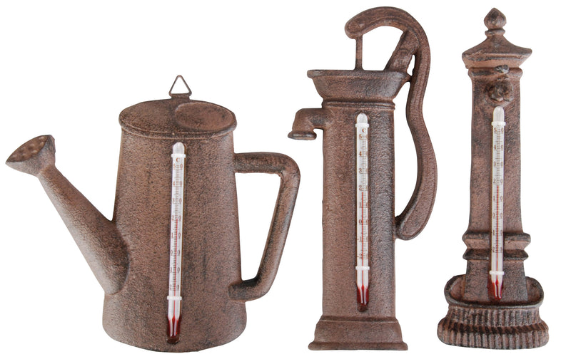 Gifts & Accessories - Cast Iron Thermometer - Water Fountain - Seeds to Sow Limited