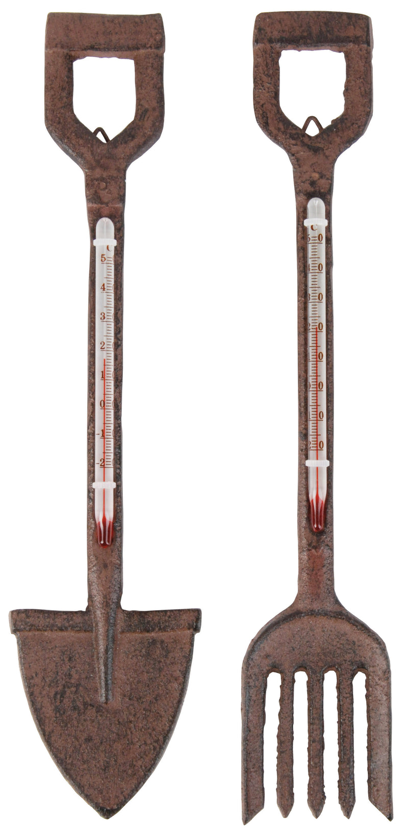 Gifts & Accessories - Cast Iron Thermometer - Spade - Seeds to Sow Limited