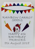 20 x Birthday Favour - Unicorn Rainbow Carrot Seeds - Seeds to Sow Limited