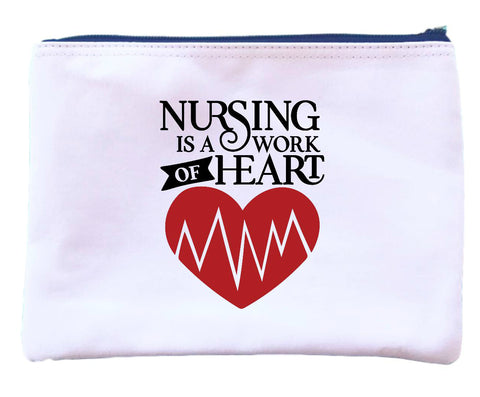 Nursing is a Work of Heart Zipper Pouch