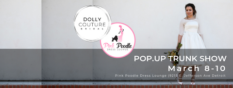 Dolly Couture Bridal tea length wedding dress pop up trunk show