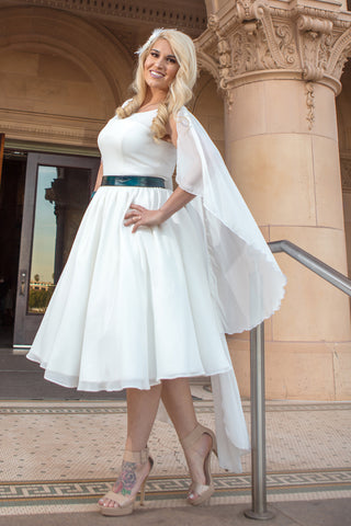 The Marin County - Dolly Couture Bridal - vintage inspired tea length wedding dresses - customize