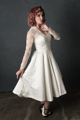 The Cambridge - Dolly Couture Bridal - vintage inspired tea length wedding dresses - customize