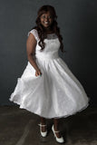 The Catalina - Dolly Couture Bridal - vintage inspired tea length wedding dresses - customize