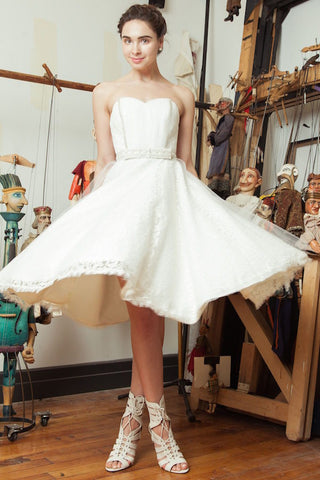 Tworca skirt - Dolly Couture Bridal - vintage inspired tea length wedding dresses - customize