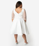 Juliette - Plus Size - Dolly Couture Bridal - vintage inspired tea length wedding dresses - customize