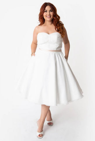 Maryville - Plus Size - Dolly Couture Bridal - vintage inspired tea length wedding dresses - customize