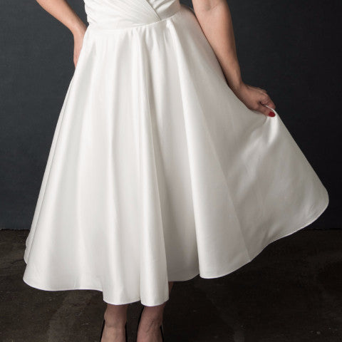 Skirt Style - Dolly Couture Bridal - vintage inspired tea length wedding dresses - customize