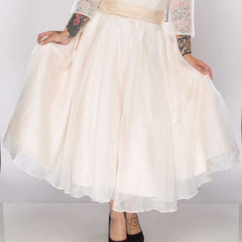 Skirt Length - Dolly Couture Bridal - vintage inspired tea length wedding dresses - customize