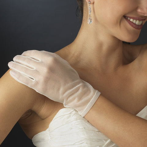 Sheer Wrist Length Gloves - Dolly Couture Bridal - vintage inspired tea length wedding dresses - customize