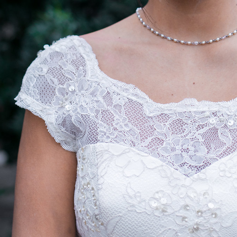 Cap to Short Sleeve - Dolly Couture Bridal