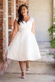 The Avila Bay - Dolly Couture Bridal - vintage inspired tea length wedding dresses - customize