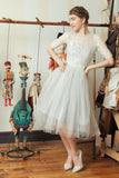 Marionetka - Dolly Couture Bridal - vintage inspired tea length wedding dresses - customize