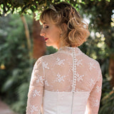 Fabric Buttons - functional - Dolly Couture Bridal