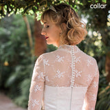 Illusion Neckline & Back - Dolly Couture Bridal - vintage inspired tea length wedding dresses - customize