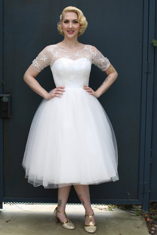 The Walnut Creek - Dolly Couture Bridal - vintage inspired tea length wedding dresses - customize