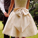 Big Bow - Dolly Couture Bridal - vintage inspired tea length wedding dresses - customize