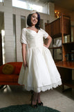 The Beverlywood - Dolly Couture Bridal - vintage inspired tea length wedding dresses - customize