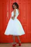 The Verona - Dolly Couture Bridal - vintage inspired tea length wedding dresses - customize