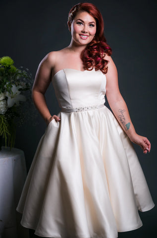 New York - Dolly Couture Bridal - vintage inspired tea length wedding dresses - customize
