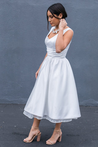 Beverly Glen - Dolly Couture Bridal - vintage inspired tea length wedding dresses - customize
