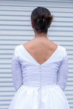 Dear Beverly - silk taffeta - Dolly Couture Bridal - vintage inspired tea length wedding dresses - customize