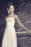 Zargoza top - Dolly Couture Bridal - vintage inspired tea length wedding dresses - customize
